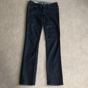 J & Company Dark Wash Mid Rise Straight Leg Jeans